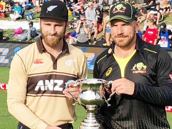 न्यूजीलैंड ऑस्ट्रेलिया को 5 मैचों की टी-20 सीरीज के 2 मैचों में हरा चुका है। अगला मैच 3 मार्च को वेलिंग्टन में खेला जाएगा। (फाइल फोटो) - Dainik Bhaskar