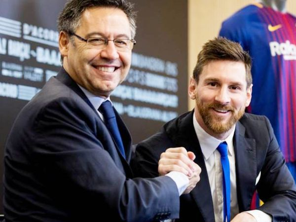 Messi (right) told during an interview that Bartomew (left) had harassed him as a club president.  He was also cheated.  (File photo) - Dainik Bhaskar