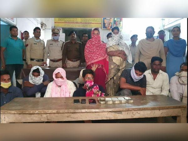 छत्तीसगढ़ के जांजगीर में चुनावी रंजिश के चलते सरपंच के बेटे की हत्या के लिए सुपारी देने के मामले में पुलिस ने 11 लोगों को गिरफ्तार किया है। - Dainik Bhaskar