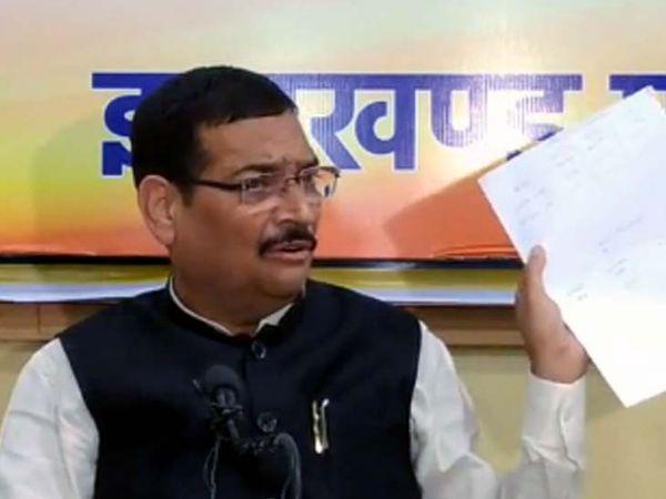 प्रदेश अध्यक्ष सह राज्यसभा सांसद दीपक प्रकाश ने कहा कि झारखंड की मूलभूत समस्या और उसके समाधान का बजट में कोई प्रावधान नहीं है - Dainik Bhaskar