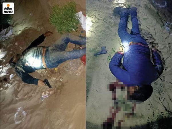 मारे गए दोनों शार्प शूटर्स ने 2013 में अपने साथियों की मदद से बनारस के तत्कालीन डिप्टी जेलर अनिल कुमार त्यागी की हत्या कर दी थी। दोनों पर 50 हजार रुपए का इनाम घोषित था। - Dainik Bhaskar