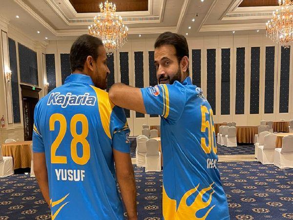 मैच से पहले इरफान पठान ने भाई यूसुफ के साथ ये तस्वीर शेयर की