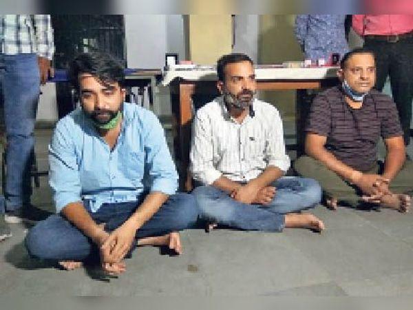 शनिवार को गैंग के 4 सदस्य श्याम थाना पुलिस के हत्थे चढ़ गए। - Dainik Bhaskar
