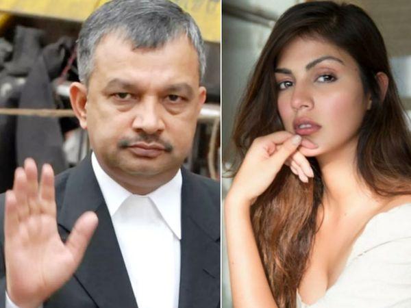 सतीश मानशिंदे ने अपने बयान में कहा कि रिया चक्रवर्ती को आरोपी बनाए बगैर इस चार्जशीट में कोई सार नहीं है। - Dainik Bhaskar