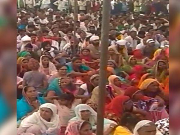 श्योपुर में हुई महापंचायत में मध्यप्रदेश के अलावा राजस्थान के कई जिलों से किसान आए।