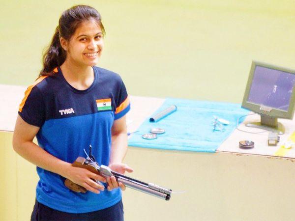 इंडियन शूटर मनु भाकर टोक्यो ओलिंपिक के लिए क्वालिफाई कर चुकी हैं। -फाइल फोटो - Dainik Bhaskar