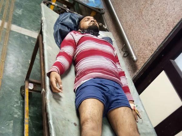 पुलिस की गोली से जख्मी हुआ बदमाश - Dainik Bhaskar