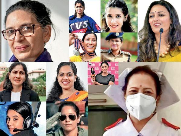 ये उन महिलाओं की तस्वीरें हैं, जिन्होंने मेहनत के दम पर अपने करियर के साथ दुनिया को भी संवारा है। - Dainik Bhaskar