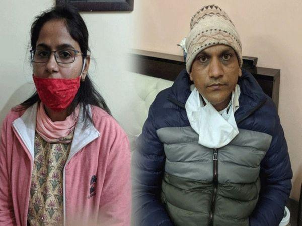 दौसा में हाइवे बनाने वाली कंपनी से रिश्वत लेने के मामले में गिरफ्तार RAS पिंकी मीणा और पुष्कर मित्तल जेल में बंद है। एसीबी ने 13 जनवरी को ट्रेप कार्रवाई की थी - Dainik Bhaskar