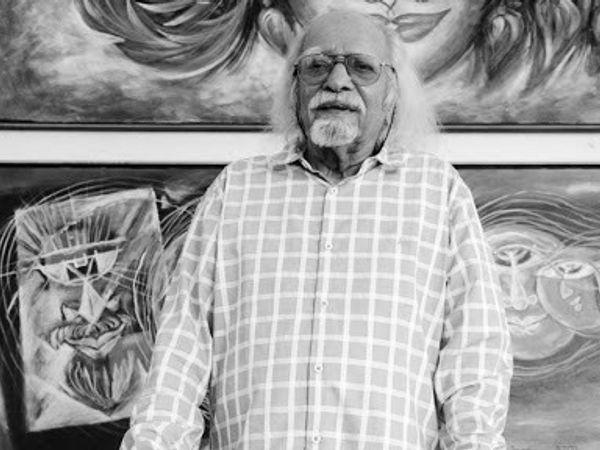 चित्रकार लक्ष्मण पाई का 95 साल की उम्र में निधन हो गया। (फाइल फोटो) - Dainik Bhaskar