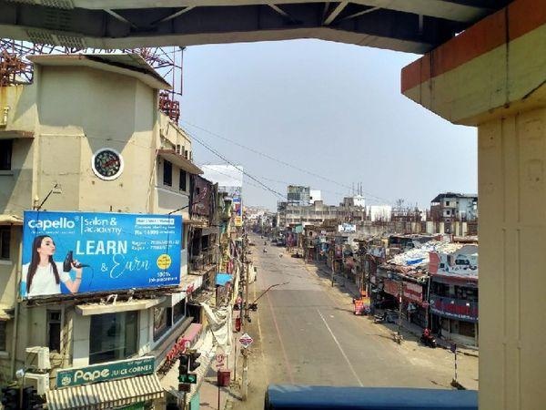 नागपुर के भीड़भाड़ वाले बाजारों में सन्नाटा नजर आया।