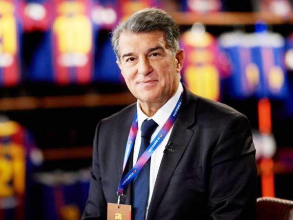 बार्सिलोना के नए प्रेसिडेंट जोआन लापोर्ता।