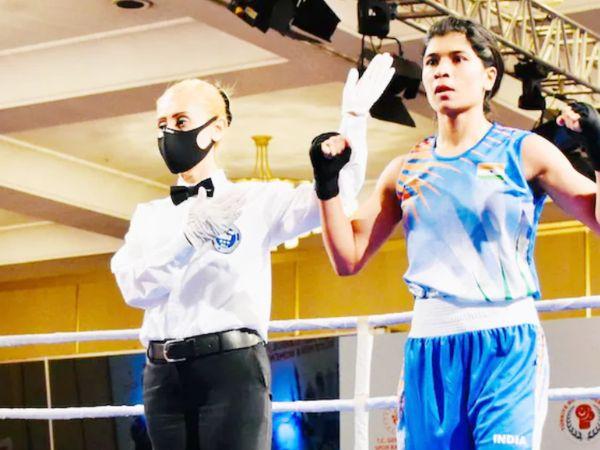 महिला मुक्केबाज निखत जरीन ने बॉसफोरस बॉक्सिंग टूर्नामेंट के प्री-क्वार्टर फाइनल में वर्ल्ड चैम्पियन पाल्तसेवा एकातेरिना को हरा दिया। - Dainik Bhaskar