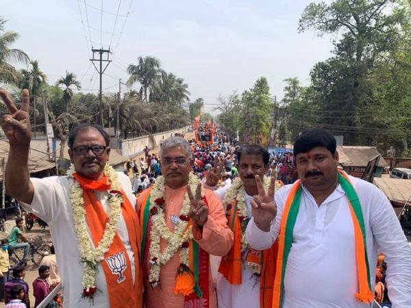 पश्चिम बंगाल में उम्मीदवारों के नाम तय होने के बाद भाजपा ने जमीनी स्तर पर चुनाव प्रचार तेज कर दिया है। - Dainik Bhaskar
