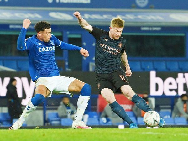 मैनचेस्टर सिटी टीम के केविन डि ब्रूयने ने टूर्नामेंट में अपना दूसरा गोल दागा। उन्होंने मैच के 90वें मिनट में टीम के लिए दूसरा गोल किया। - Dainik Bhaskar