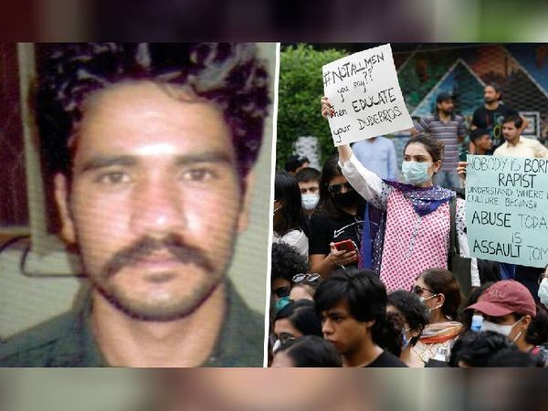 फ्रेंच महिला से गैंगरेप का मुख्य आरोपी अली (बायीं ओर)। विरोध में लाहौर में हुए विरोध प्रदर्शन की फाइल फोटो। - Dainik Bhaskar