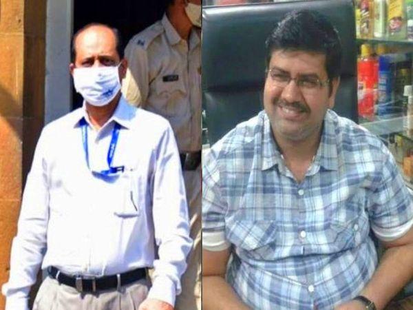 जांच में सामने आया है कि मनसुख हिरेन(दाएं) और निलंबित सब इंस्पेक्टर सचिन वझे(बाएं) एक दूसरे को अच्छी तरह से जानते थे। - Dainik Bhaskar