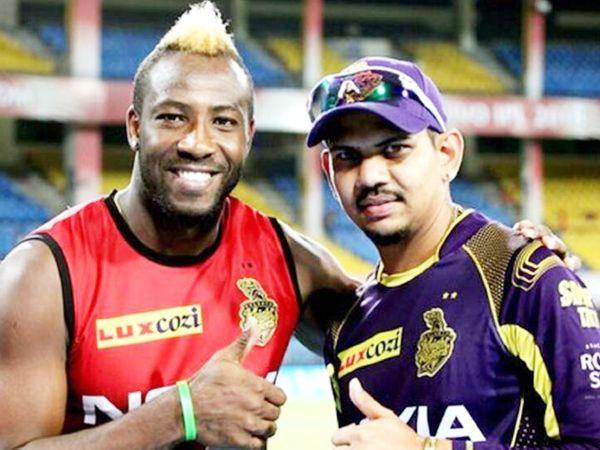 आंद्रे रसेल और सुनील नरेन IPL के लिए मुंबई पहुंच चुके हैं। (फाइल फोटो) - Dainik Bhaskar