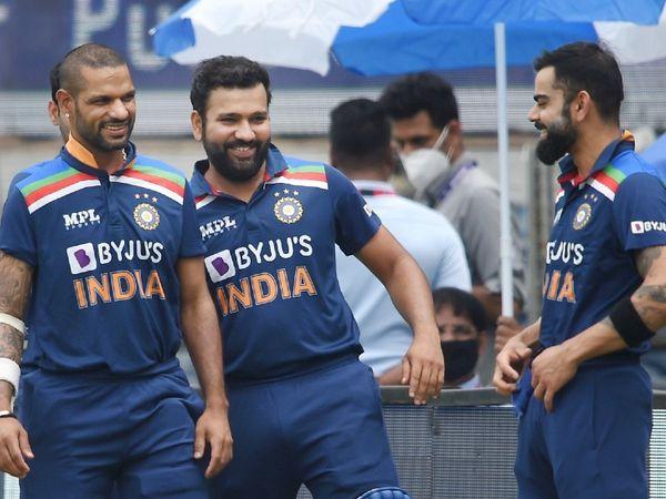 भारतीय टीम के टॉप-3 बल्लेबाज शिखर धवन ने 98, रोहित शर्मा ने 28 और विराट कोहली ने 56 रन की पारी खेली। जबकि इंग्लैंड के टॉप-3 बल्लेबाज 141 रन ही बना सके।