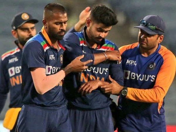 चोट लगने के बाद अय्यर को तुरंत सीटी स्कैन के लिए अस्पताल ले जाया गया। - Dainik Bhaskar