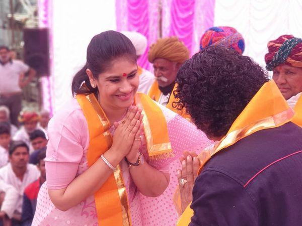 राजसमंद में दिवंगत विधायक किरण माहेश्वरी की पुत्री दीप्ति की फाइल फोटो।