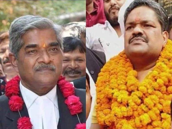 सुनील द्विवेदी और बृजेश। (बाएं से दाएं) - Dainik Bhaskar