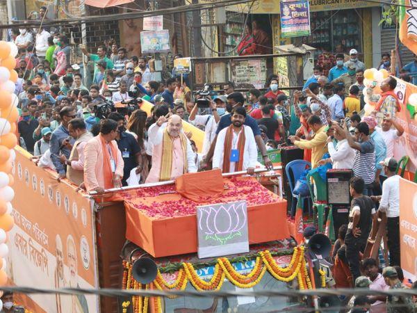 पिछले दिनों गृहमंत्री अमित साह ने पूर्व मेदिनीपुर में रैली की थी और फिर विशाल रोड शो भी किया था।