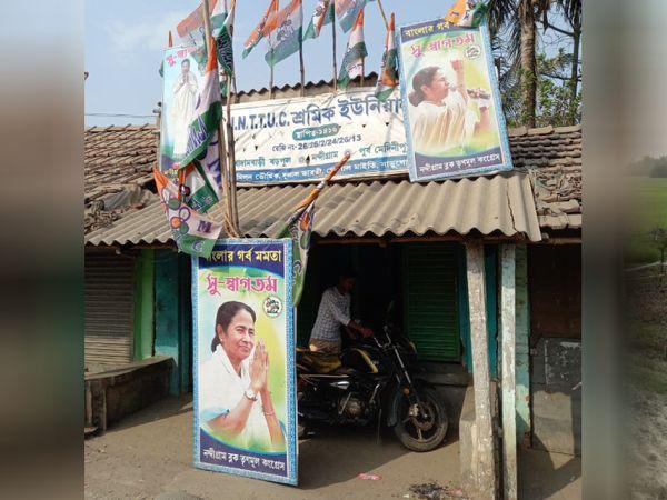 ममता बनर्जी ने भी चुनाव प्रचार में पूरी ताकत झोंक दी हैं। जगह-जगह उनके पोस्टर, बैनर नजर आ रहे हैं।
