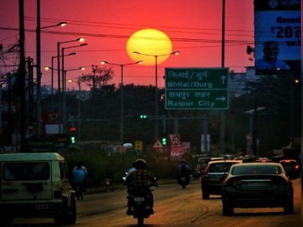 पिछले दो दिनों से रायपुर में तापमान बढ़ा हुआ है। मैदानी क्षेत्रों में अब लू के आसार बन रहे हैं। - Dainik Bhaskar