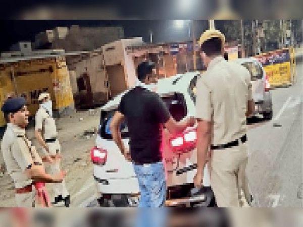 पुलिस जिला में नाइट डोमिनेशन अभियान चलाया गया। - Dainik Bhaskar