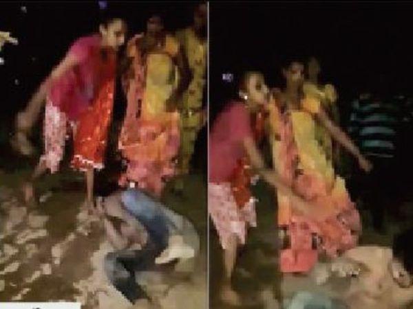 तीन दिन पहले हुई मारपीट का वीडियो वायरल होने के बाद इस घटना में नीरच की मौत हाे जाने पर पुलिस ने इस मामले को हत्या के तहत दर्ज करते हुए एक महिला आरोपी को गिरफ्तार किया है। - Dainik Bhaskar