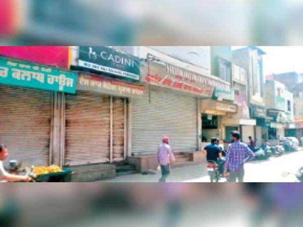 भाजपा विधायक पर हमले के खिलाफ बंद पड़ा मलोट का खेस बाजार। - Dainik Bhaskar