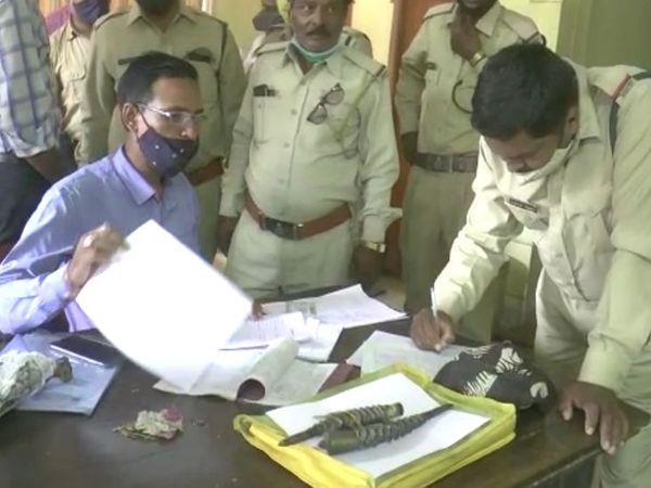 वन विभाग ने युवक के खिलाफ जांच के बाद कानूनी कार्रवाई की।