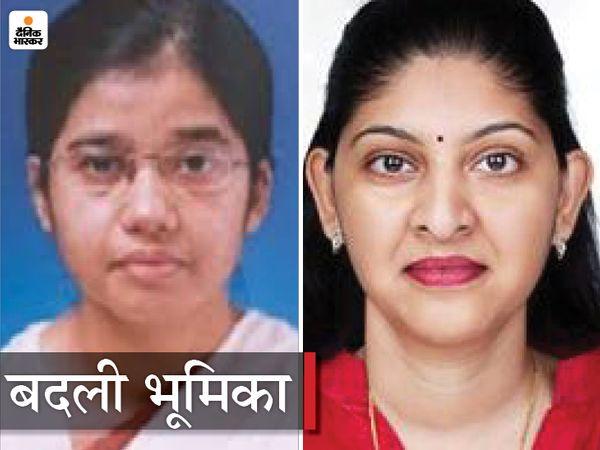 राज्य सरकार ने इन दो महिला अधिकारियों की भूमिका बदली है। कोरोना की चुनौतियों के बीच शहला निगार को स्वास्थ्य विभाग में लाया गया है। वहीं रीना बाबा साहब कंगाले को निर्वाचन आयोग के साथ महिला एवं बाल विकास विभाग की जिम्मेदारी भी संभालनी होगी। - Dainik Bhaskar