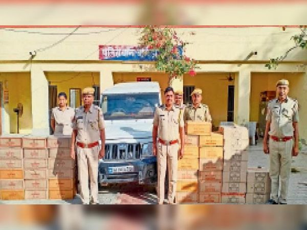 बागोड़ा. पुलिस ने कार्रवाई कर अवैध अंग्रेजी शराब की जब्त। - Dainik Bhaskar