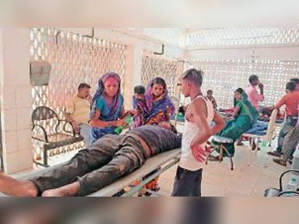 रेफरल अस्पताल में जख्मी। - Dainik Bhaskar
