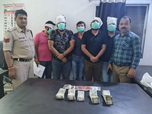 छत्तीसगढ़ के बिलासपुर स्थित एक होटल में छापा मारकर पुलिस ने 5 जुआरियों को गिरफ्तार किया है। - Dainik Bhaskar
