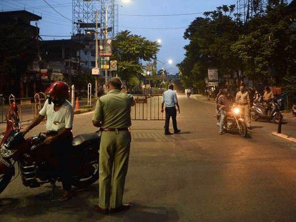 सूरत, अहमदाबाद, राजकोट और वडोदरा में रात 9 बजे से सुबह 6 तक नाइट कर्फ्यू लगाया गया है। - Dainik Bhaskar