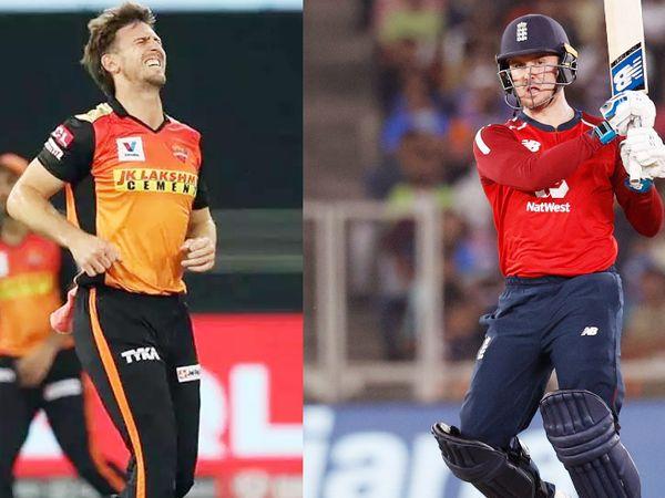 मिचेल मार्श (बाएं) पिछले सीजन में सनराइजर्स हैदराबाद के पहले मैच में चोटिल हुए थे। इंग्लिश बल्लेबाद जेसन रॉय (दाएं) भारत के खिलाफ वनडे और टी-20 सीरीज में अच्छे फॉर्म में थे। - Dainik Bhaskar