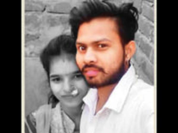 लक्ष्मी और आरोपी हरीश। - Dainik Bhaskar