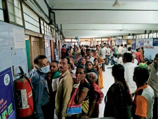 सिविल अस्पताल में अब सीजनल फ्लू के मरीज बहुत कम आ रहे हैं। - Dainik Bhaskar