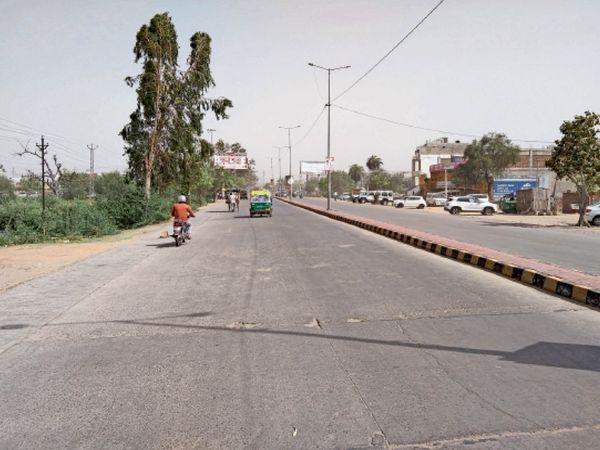भरतपुर. सूनी पड़ी सरकूलर रोड। - Dainik Bhaskar