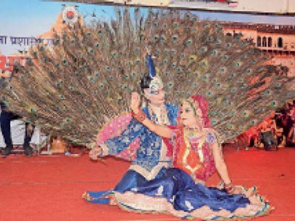 राजस्थान दिवस पर होटल रायसिना हिल्स में सांस्कृतिक प्रस्तुति देते हुए। - Dainik Bhaskar