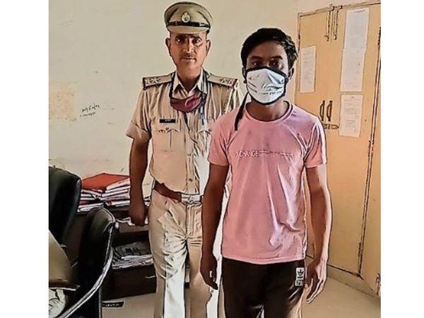 पानीपत. पुलिस द्वारा गिरफ्तार किया गया आरोपी जगबीर - Dainik Bhaskar