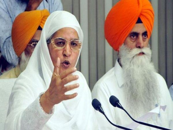 प्रस्ताव पास करते हुए बीबी जागीर कौर ने कहा कि RSS दूसरे धर्मों और अल्पसंख्यकों की आजादी को दबा रही है। - Dainik Bhaskar