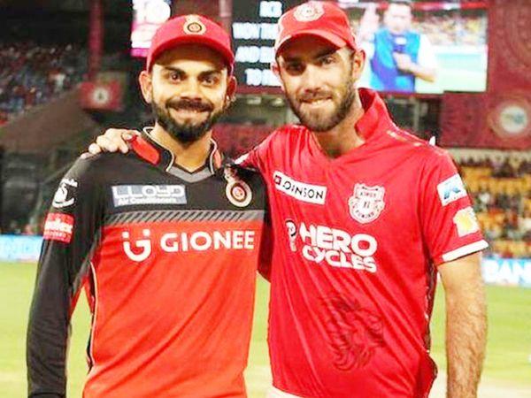 विराट कोहली रॉयल चैलेंजर्स बेंगलुरु के कप्तान हैं। RCB ने इस साल ऑक्शन में ग्लेन मैक्सवेल (दाएं) को खरीदा। मैक्सवेल ने पिछला सीजन किंग्स इलेवन पंजाब से खेला था। - Dainik Bhaskar