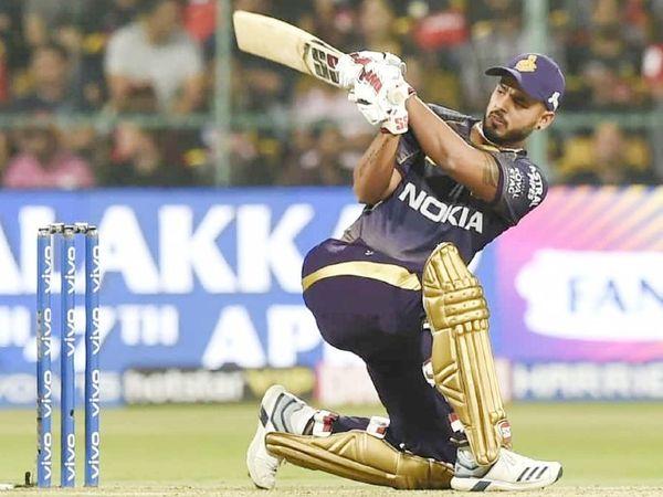 नीतीश राणाने IPL में अब तक खेले 60 मैच में 28.17 की औसत से 1437 रन बनाए हैं। उनका स्ट्राइक रेट 135.56 का रहा है। -फाइल फोटो - Dainik Bhaskar