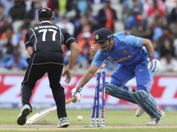 2019 वर्ल्ड कप में धोनी के रन आउट होते ही भारतीय उम्मीद भी समाप्त हो गई।