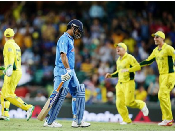 2015 वर्ल्ड कप के सेमीफाइनल में धोनी ने 65 रन बनाए थे।