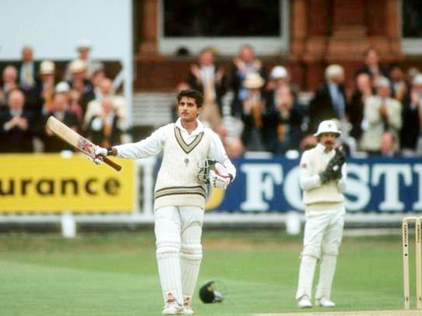 गांगुली ने डेब्यू टेस्ट में इंग्लैंड के खिलाफ शतक लगाया था।